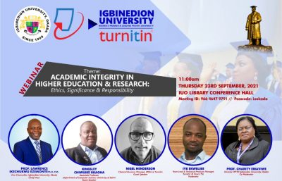 Lecture on Academic Integrity in Higher Education and Research